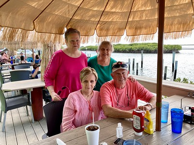 Ponce Inlet  Lunch, Mike, Carol, Tacel and Starlette
