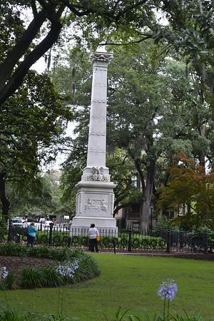 The Statute in Savannah in Memory of Count Vladimir Pulaski