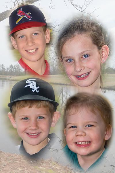 Grandchildren w background