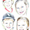 Grandchildren 4 x 6 Pencil w color