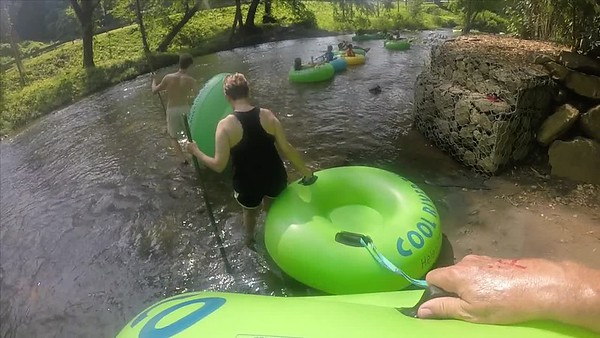 Tubing down the River in Helen Ga from Cool River Ziplining