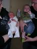 Milan 1 dag oud (links) naast zijn neefje Dante 4 maand oud (rechts).