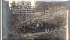 Bringing 60 HP gaso  engine to tunnel, above Okanagan Lake, 1913