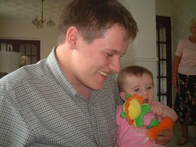 Millie with her Godfather, Edward