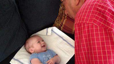 Jim gets his Grandad on.