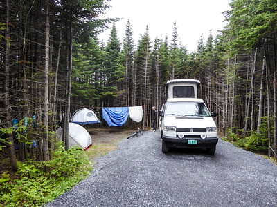 Campsite in Berry HIll Campground