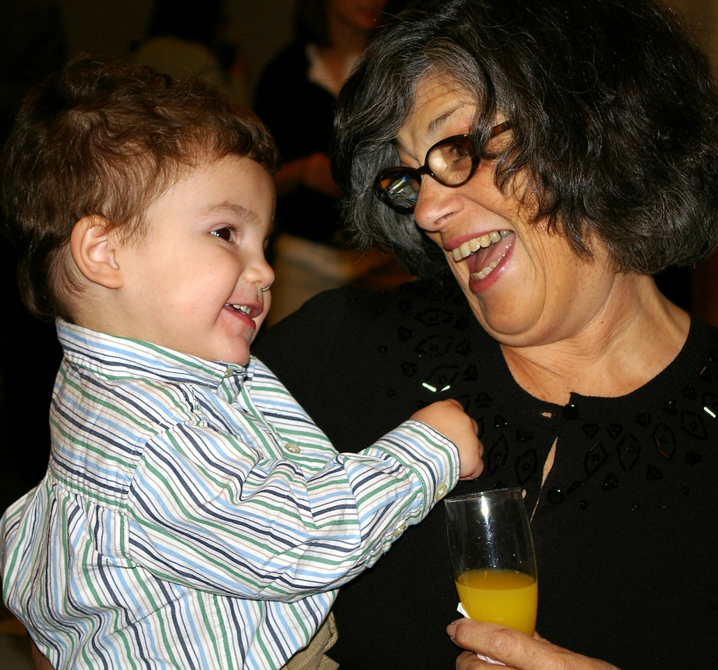 Mom and Gabe having a great time