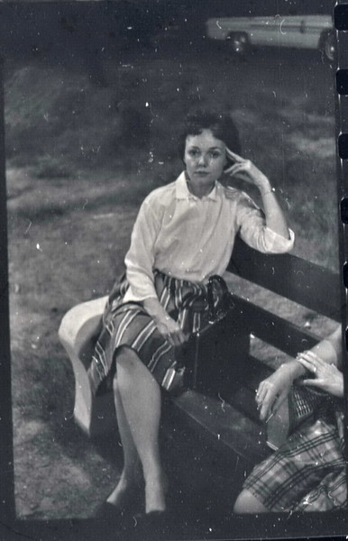 Mom at my baseball game in 1962 - Norma