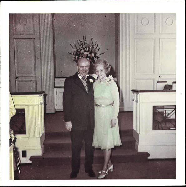 Clay & Darlene wedding - 1st Pres Jackson - Mimi & Daddo in chapel