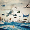 Mural of Carriers and Helos