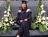 "Miriam - note the blue tassel that means ""degree with distinction"""