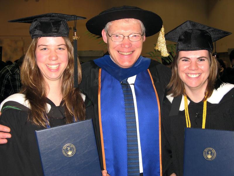 Dr.Van Brummelen - Dean of Education at TWU with Miriam and Liz
