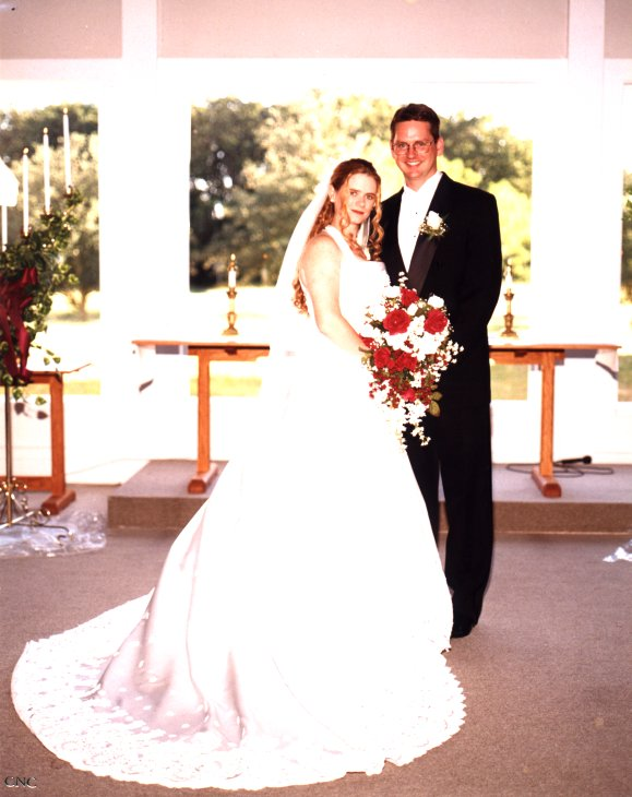 Terry and Amy at our wedding in 1998