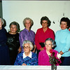 Reba Emery Derichsweiler, left Nannie Emery and Lena Emery McNeally, seated<br /> Standing from right Juanita Emery, Betty Emery, Panzy Emery, Helen Emery and Mary Emery