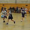 First B-ball game - Alyssa leads a fast break!