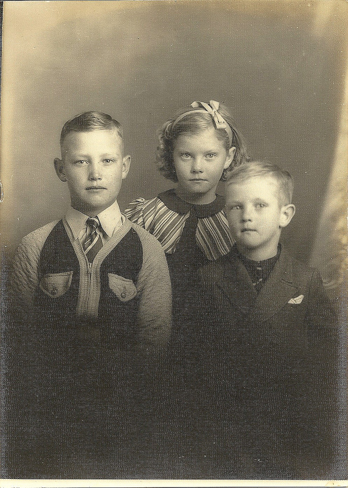 Charles Moore, with sister Betty Jean Puckett and brother, Samuel Puckett, Jr.