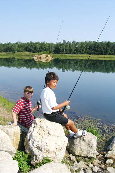 Alek & Mike fishing