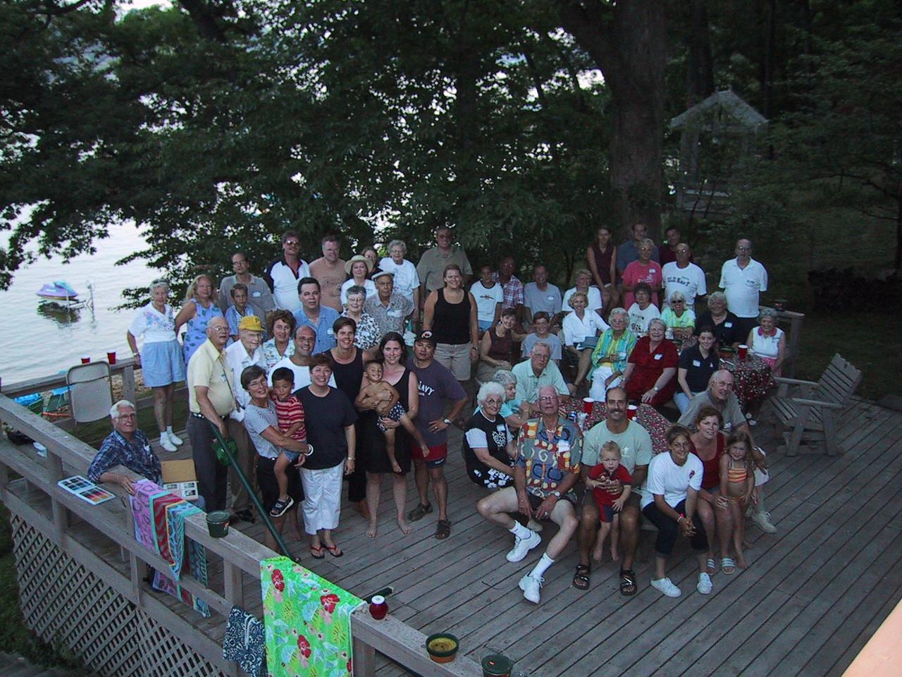 Int-Hout Reunion group photo. Lawrence Michigan