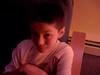 Mathew  watching HP on DVD