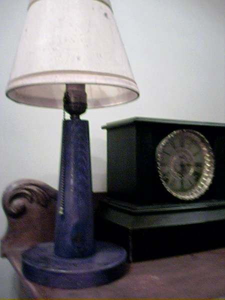 Lamp Grampy made from a timber peg from an old railroad bridge in Franklin,<br />  NH.