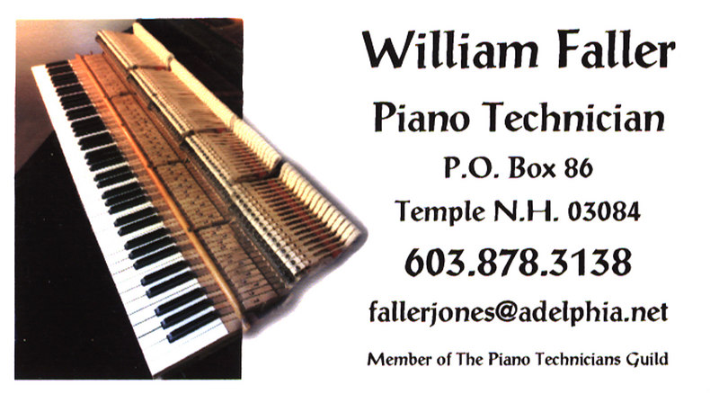 Business Card...........  from the inside of my piano for Bill.