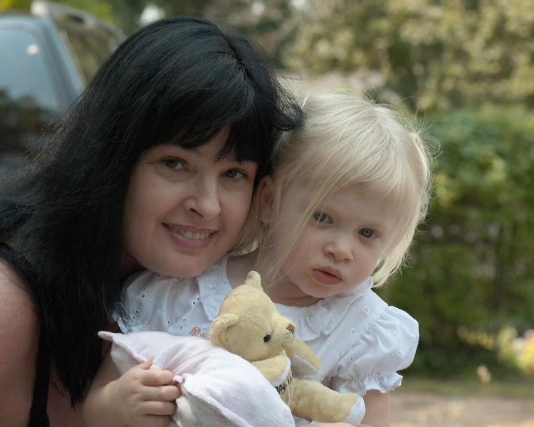 Karen, the babe, babysitting her niece, Katie.