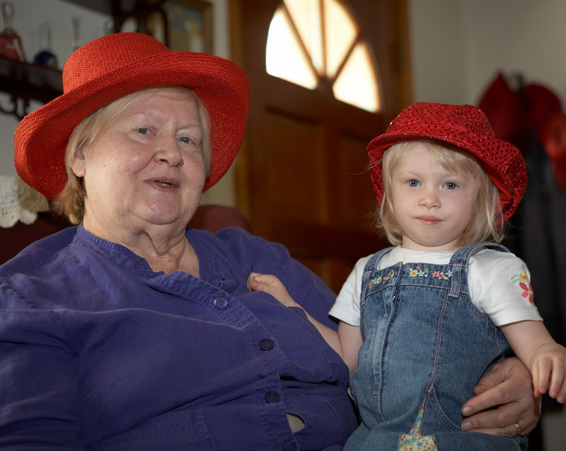 Shirley and Katherine Menard, grandmother and granddaughter respectively.