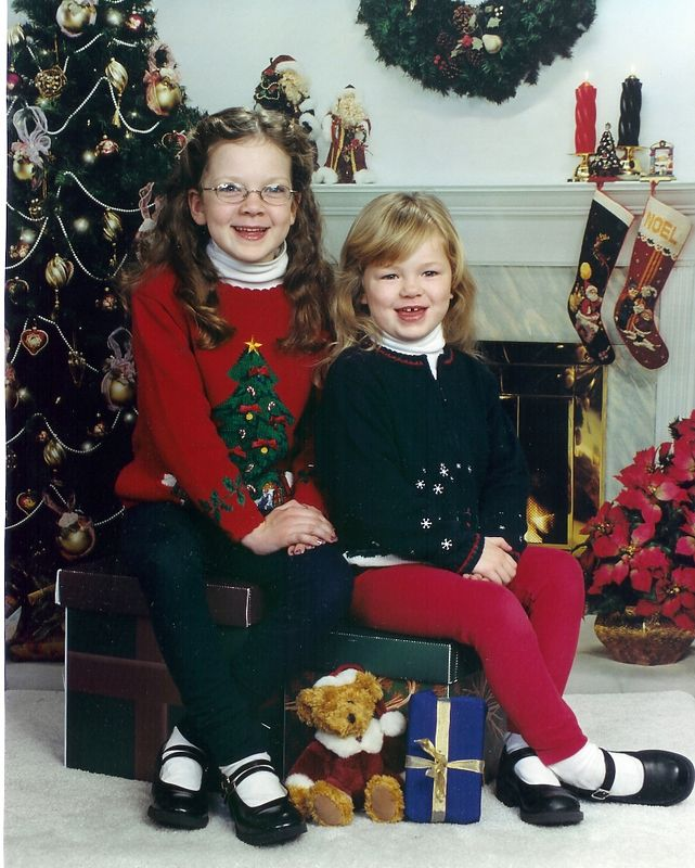 Rowan and McKenna, Chrismas 2002