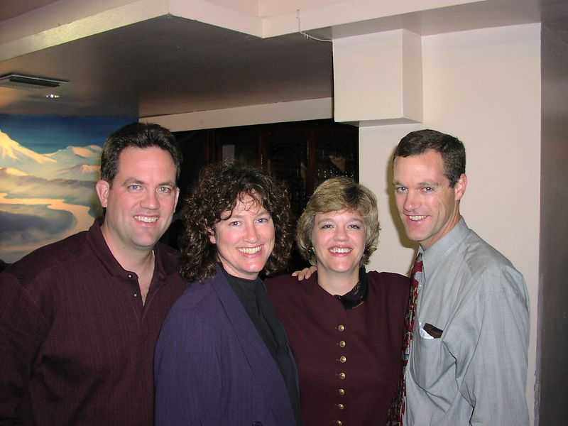Except for the Beach House BBQ that was held 2 days before the launch of STS-107 (and I sure hope I get pictures from that some day!) this was the last time all four Salton sibs were all together.  Unfortunately, it was for the death of our dear cousin, Tim Haviland.  This picture was taken in NY City, November of 2001.