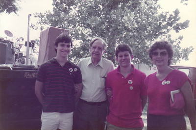 Me, Faubus, Jack, Mom - from a political event in Arkansas we were attending