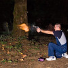 .357 Mag.  This was the only one of several shots with this gun that produced a visible flame.