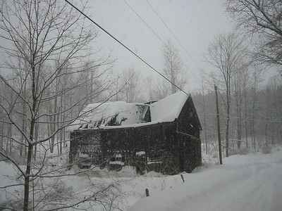 Jen and I went driving around in a snow storm in January 2008.  This was in Lyndeboro, NH.