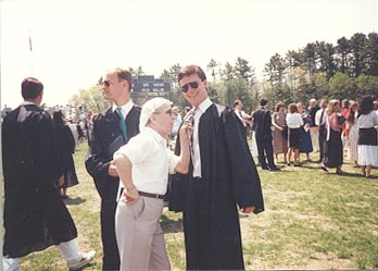 UNH Graduation 1989.  Glen, Grandad, and me.