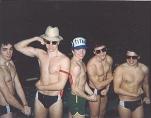 1983 Swim Team Eric Westcott, Scott Novack, Peter Goff, me, Scott Morin.