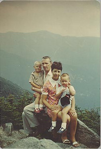 Mum, Dad, Steve, and me on Cannon Mountain, NH about 1968.