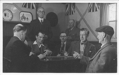 Grandad is second from left.  The Conservative Club in Sudbury, Suffolk, England.  Probably in the 50s.