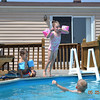 Emma Stanek (flying), Drew Stanek (on deck), Preston Brewer (in water)