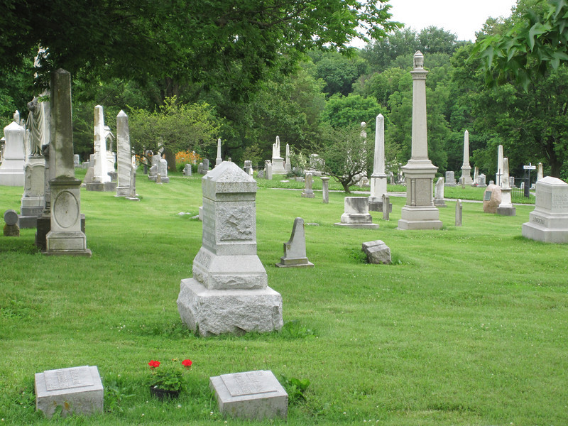 June 14, 2010.  Of course I took some pictures in Columbia Cemetery also.