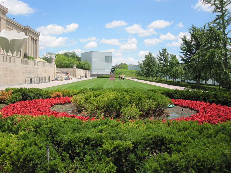 June 16, 2010.  Nelson-Atkins Art Museum.  You can see part of the museum's new addition, the Bloch building.