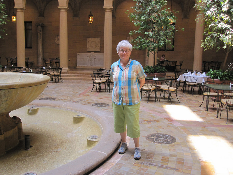 June 16, 2010.  We had a lovely lunch in the museum's courtyard restaurant.  Too bad the fountain wasn't on.