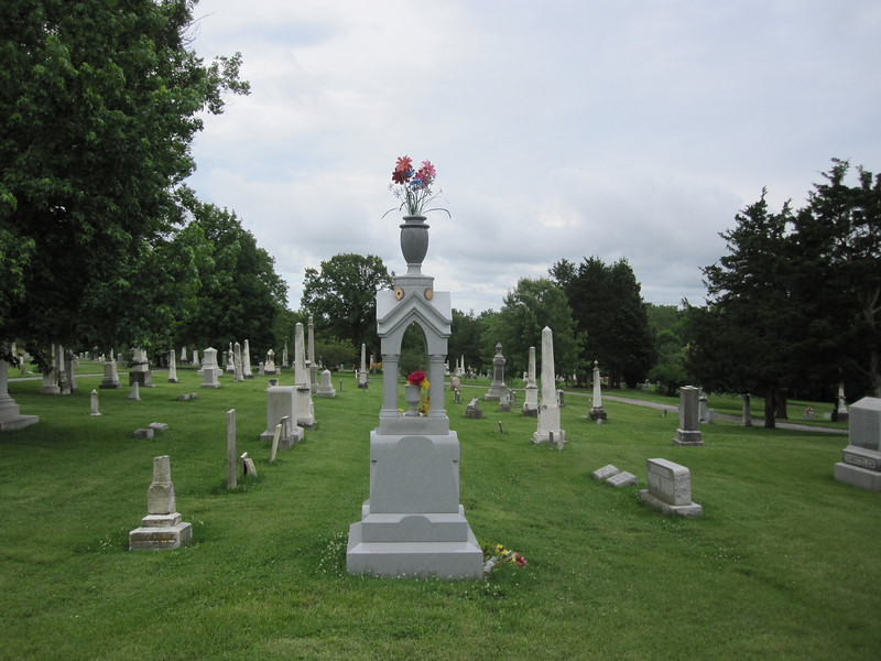 June 14, 2010.  I thought this was an interesting monument in Columbia Cemetery.  Erected in 2008, it is clearly referencing the styles of the 19th-century monuments throughout the cemetery.