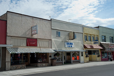 Main street actually had some businesses.  And it was getting new sidewalks and street lights.