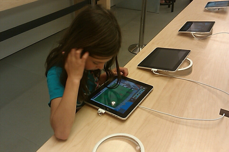 Abbey rockin the iPad :-)