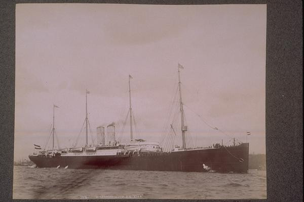 The steamer that brought Great Great Grandpa Moench to the US from Germany in the late 1800's.