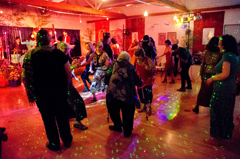 Dancing - Moe's Day Celebration - Art Exhibition and music-dance party (Moshe Amadeus King)