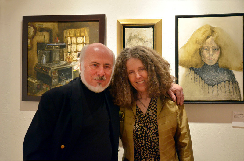 Stephen Somerstein and wife Eva Strauss-Rosen - Moe's Day Celebration - Art Exhibition and music-dance party (Moshe Amadeus King)
