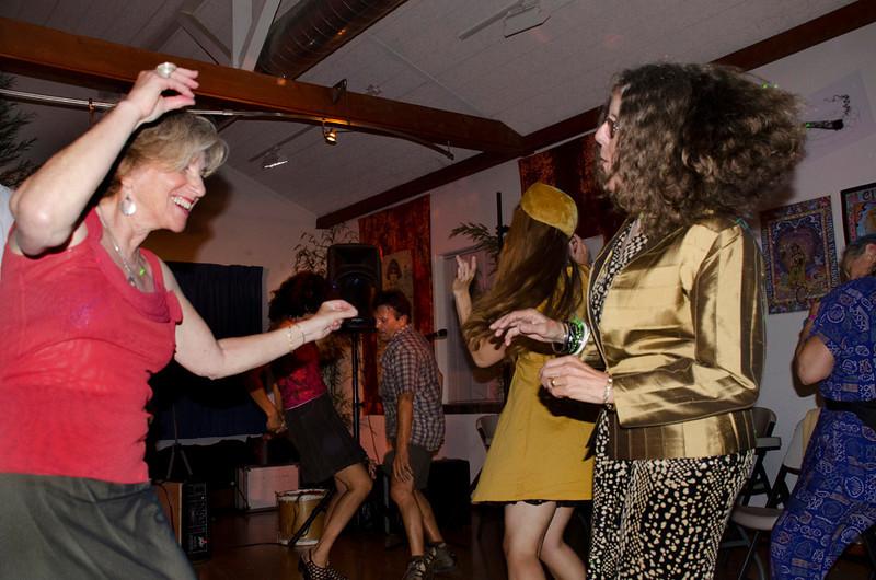 Eva Strauss-Rosen dancing - Moe's Day Celebration - Art Exhibition and music-dance party (Moshe Amadeus King)