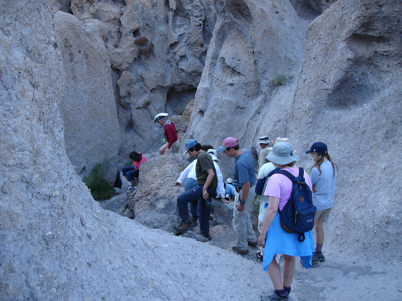 Beginning our descent into the narrow gorge.