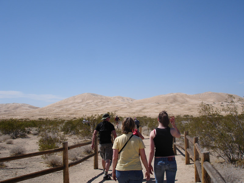 Walkway at the parking area leading to the Kelso Dunes.