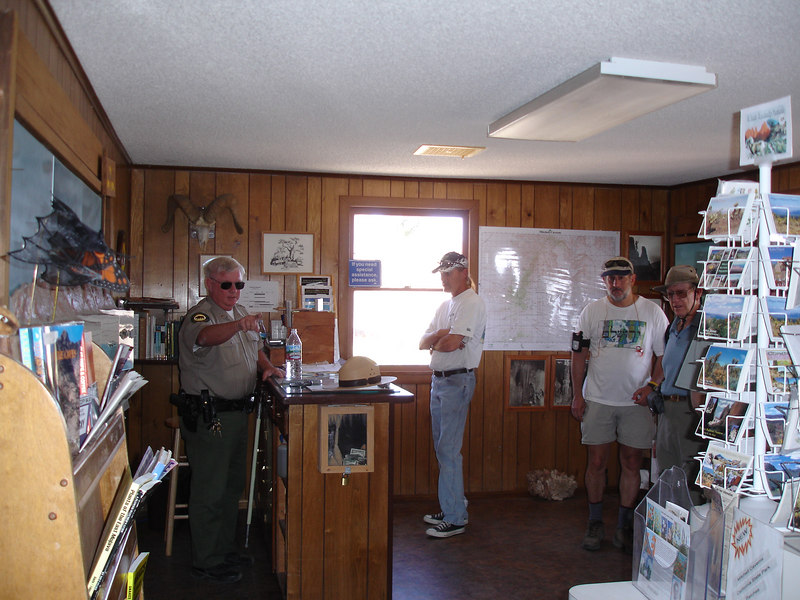 Inside the visitor center. Free maps were available.